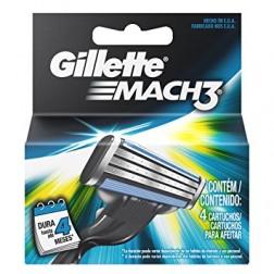 Gillette Mach3 Cartucho para Afeitar (4 pzas)