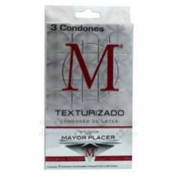 M-Force Preservativo Texturizado Paquete con 3 condones