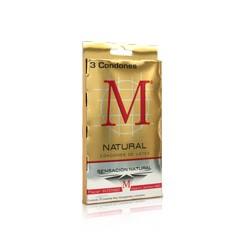 M-Force Preservativo Natural Paquete con 3 condones