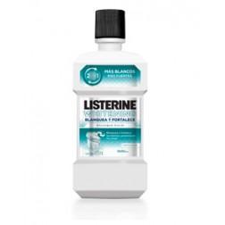 Listerine Whitening Blanquea y Fortalece Enjuague Bucal Menta Suave (473 ml)