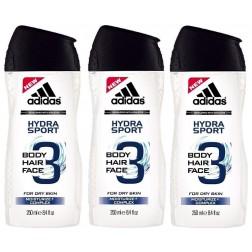Adidas Shampoo Gel, Hydra Sport 3, 250 ml